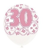 Pink 30th Birthday Balloons