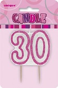 Pink 30th Birthday Candle