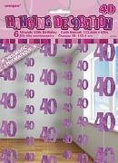Pink 40th Birthday Decoration