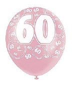 Pink 60th Birthday Balloons