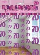 Pink 70th Birthday Decoration