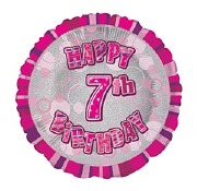 Pink 7th Birthday Balloon