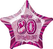 Pink 80th Birthday Balloon