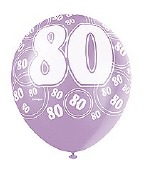 Pink 80th Birthday Balloons