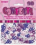 90th Pink Confetti