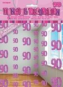 Pink 90th Birthday Decoration