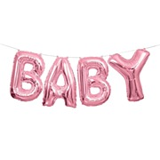 Pink Baby Balloon Banner