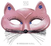 Pink Cat Masquerade Mask.