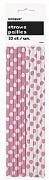 Pink Dots Drinking Straws