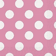 Pink Dots Paper Napkins