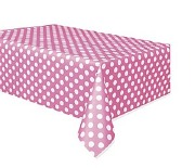Pink Dots Plastic Tablecover