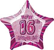 Pink Glitz 16th Balloon