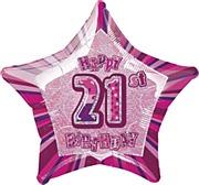 Pink Glitz 21st Balloon