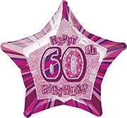 Pink Glitz 60th Balloon