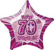 Pink Glitz 70th Balloon