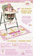 Pink & Gold 1st High Chair Kit