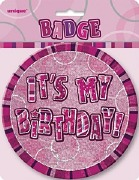Pink Its My Birthday Badge