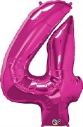 Pink Number 4 Balloon