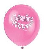 Pink Bunting Balloons