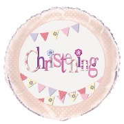 Pink Bunting Foil Balloon