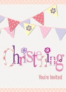 Pink Bunting Invitations