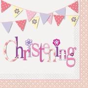 Pink Bunting Napkins