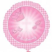 Pink Christening Foil Balloon