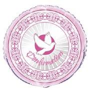 Pink Confirmation Balloon