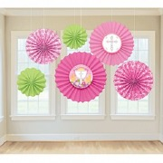 Pink Communion Fan Decoration