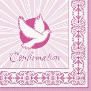 Pink Confirmation Napkins