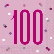 Pink Dot Glitz 100th Napkins