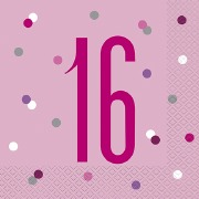 Pink Dots Glitz 16th Napkins