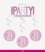 Pink Dots Glitz 21st Swirls