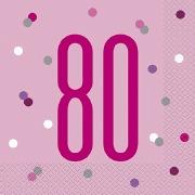 Pink Dot Glitz 80th Napkins