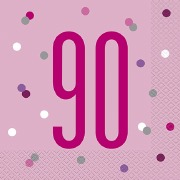 Pink Dot Glitz 90th Napkins