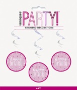 Pink Dot Glitz Birthday Swirls