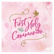 Pink Dove Communion Napkins