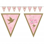 Pink Dove Pennant Banner