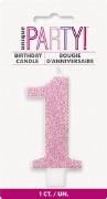 Pink Glitter No1 Candle