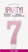 Pink Glitter No7 Candle