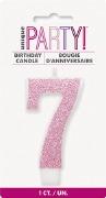 Pink Glitter No7 Candle