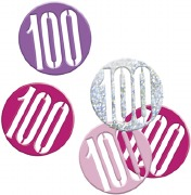 Pink Glitz 100th Confetti