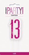 Pink Glitz 13th Candle