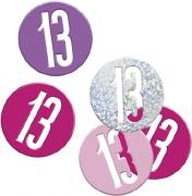 Pink Glitz 13th Confetti
