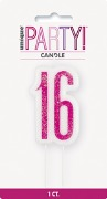 Pink Glitz 16th Candle