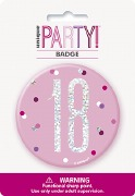 Pink Glitz 18th Badge