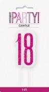 Pink Glitz 18th Candle