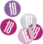 Pink Glitz 18th Confetti