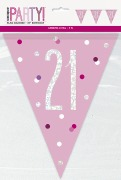 Pink Glitz 21st Bunting
