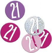 Pink Glitz 21st Confetti